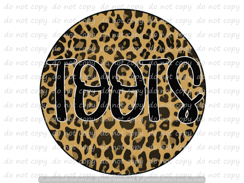 LEOPARD TOOTS  (SUBLIMATION)
