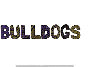BULLDOGS (PURPLE/GOLD) (SUBLIMATION)