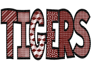 TIGERS ( MAROON/WHITE) (SUBLIMATION)