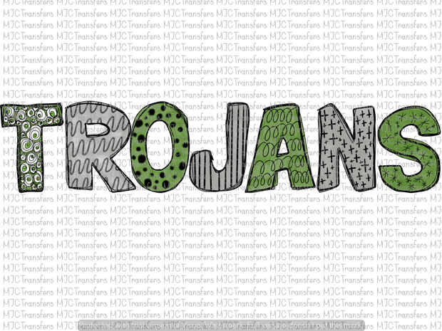 TROJANS (GREEN AND SILVER) (SUBLIMATION)