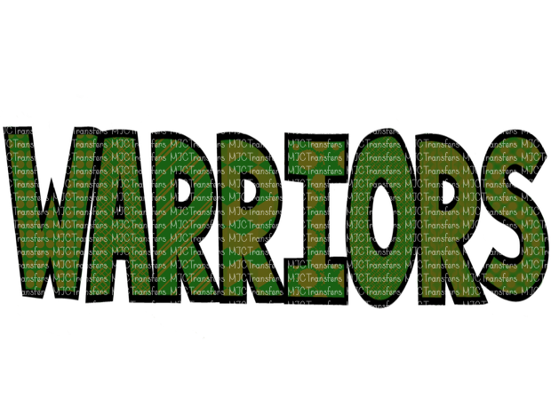 WARRIORS (GREEN/GOLD) (SUBLIMATION)