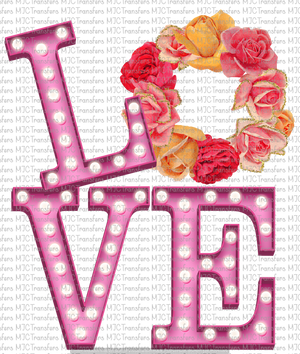 VINTAGE FLORAL LOVE (SUBLIMATION)