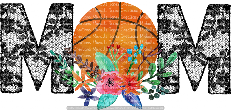 LACE BASKETBALL MOM (SUBLIMATION)