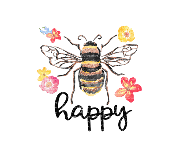 BEE HAPPY (SUBLIMATION)