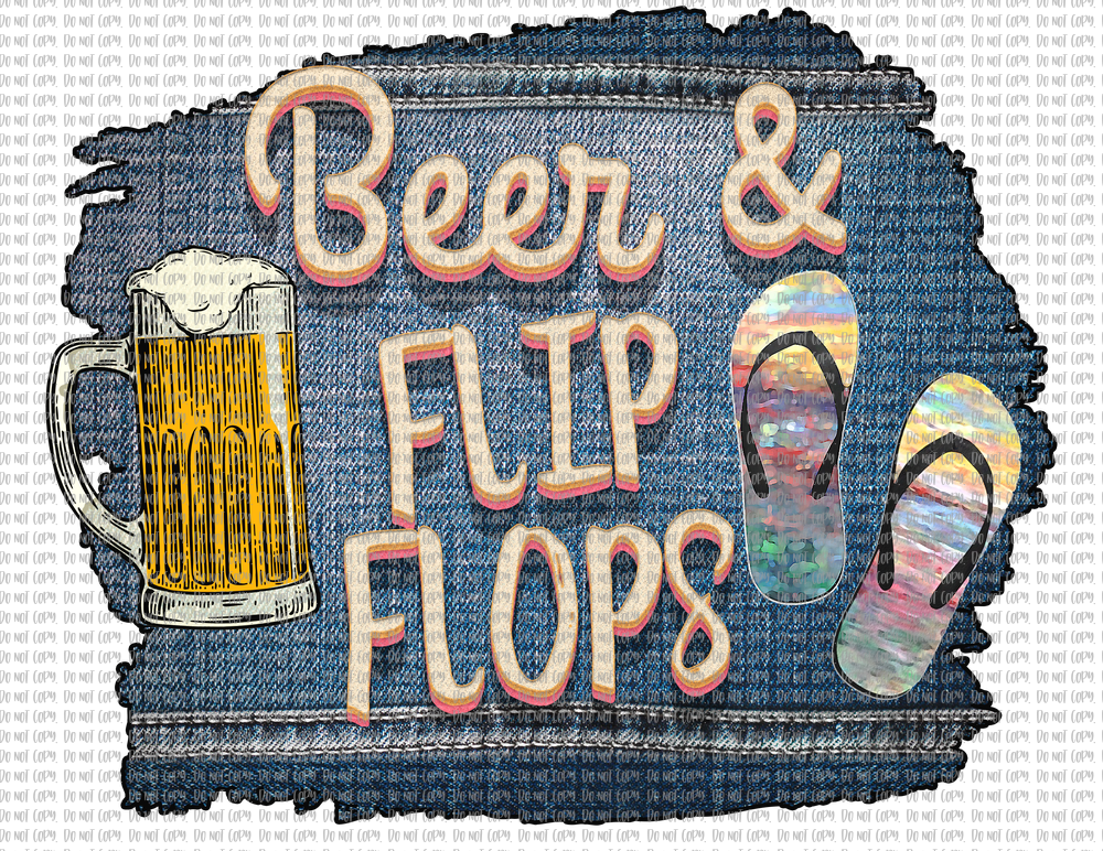 BEER AND FLIP FLOPS (SUBLIMATION)