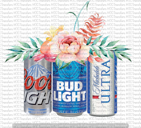 BEER CANS WITH FLOWERS (SUBLIMATION)