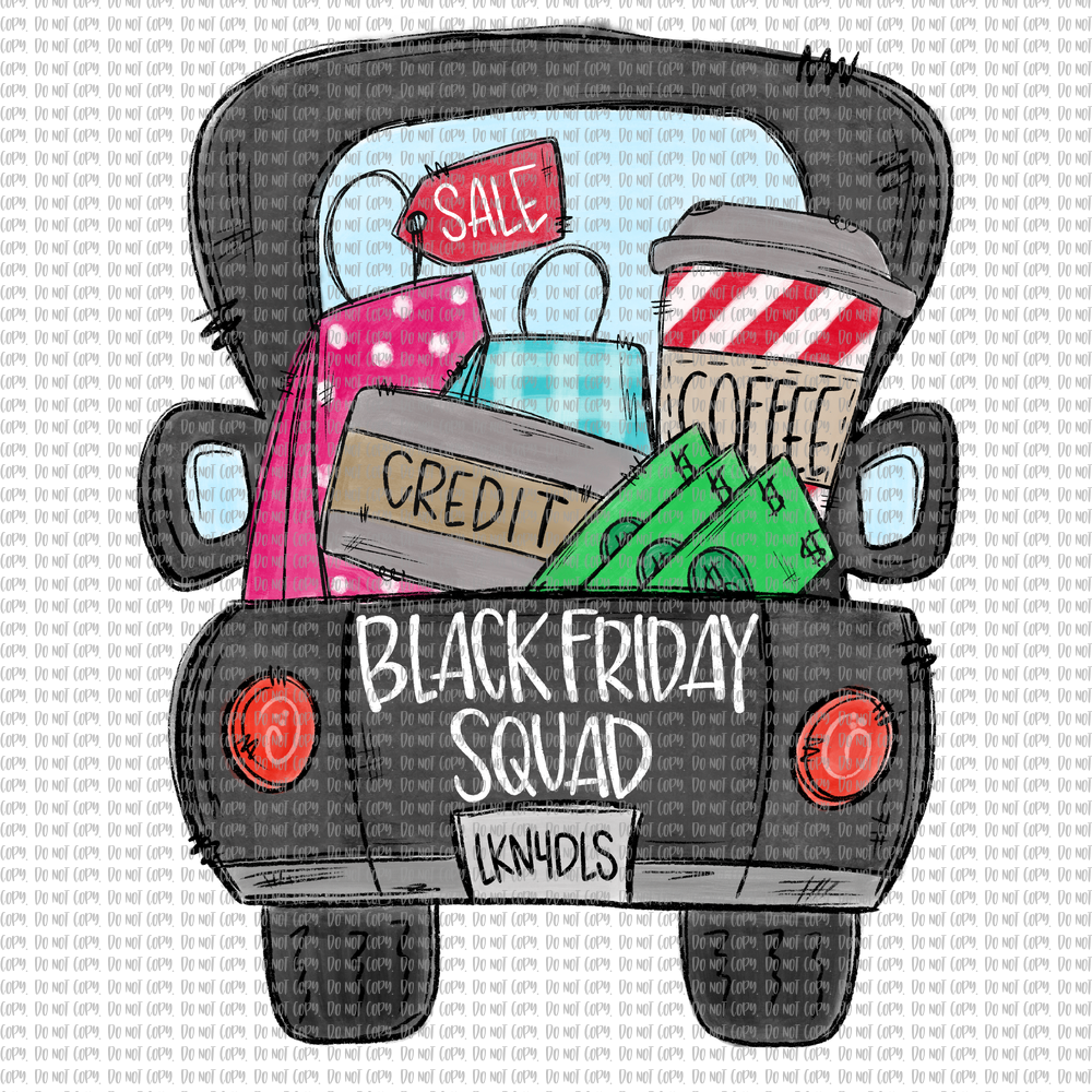 BLACK FRIDAY SQUAD TRUCK (SUBLIMATION)