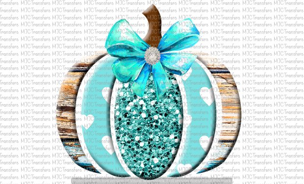 TEAL WOODEN PUMPKIN (SUBLIMATION)