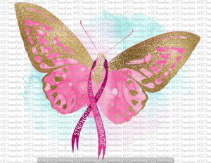 BREAST CANCER BUTTERFLY (SUBLIMATION)
