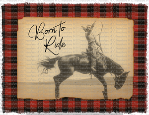 BUFFALO PLAID BORN TO RIDE (SUBLIMATION)