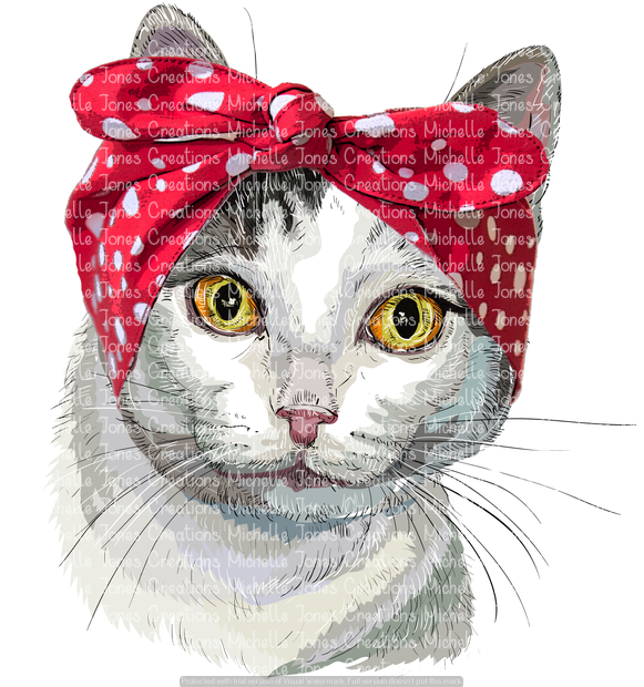 CAT WITH BANDANNA (SUBLIMATION)