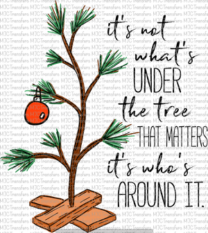 CHARLIE BROWN TREE WITH QUOTE (SUBLIMATION)