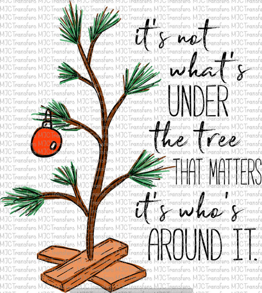 Charlie Brown Christmas Tree Quote.Charlie Brown Tree With Quote Sublimation