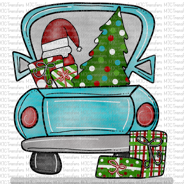 BLUE CHRISTMAS TRUCK (SUBLIMATION)