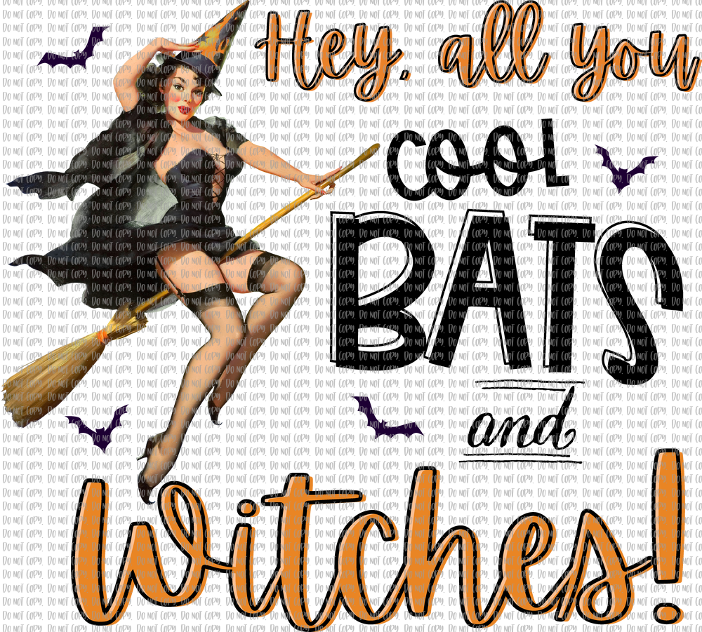 COOL BATS AND WITCHES (SUBLIMATION)