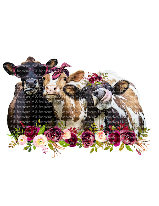 COW TRIO  (SUBLIMATION)