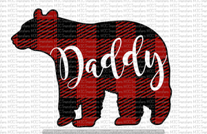 PLAID DADDY BEAR (SUBLIMATION)