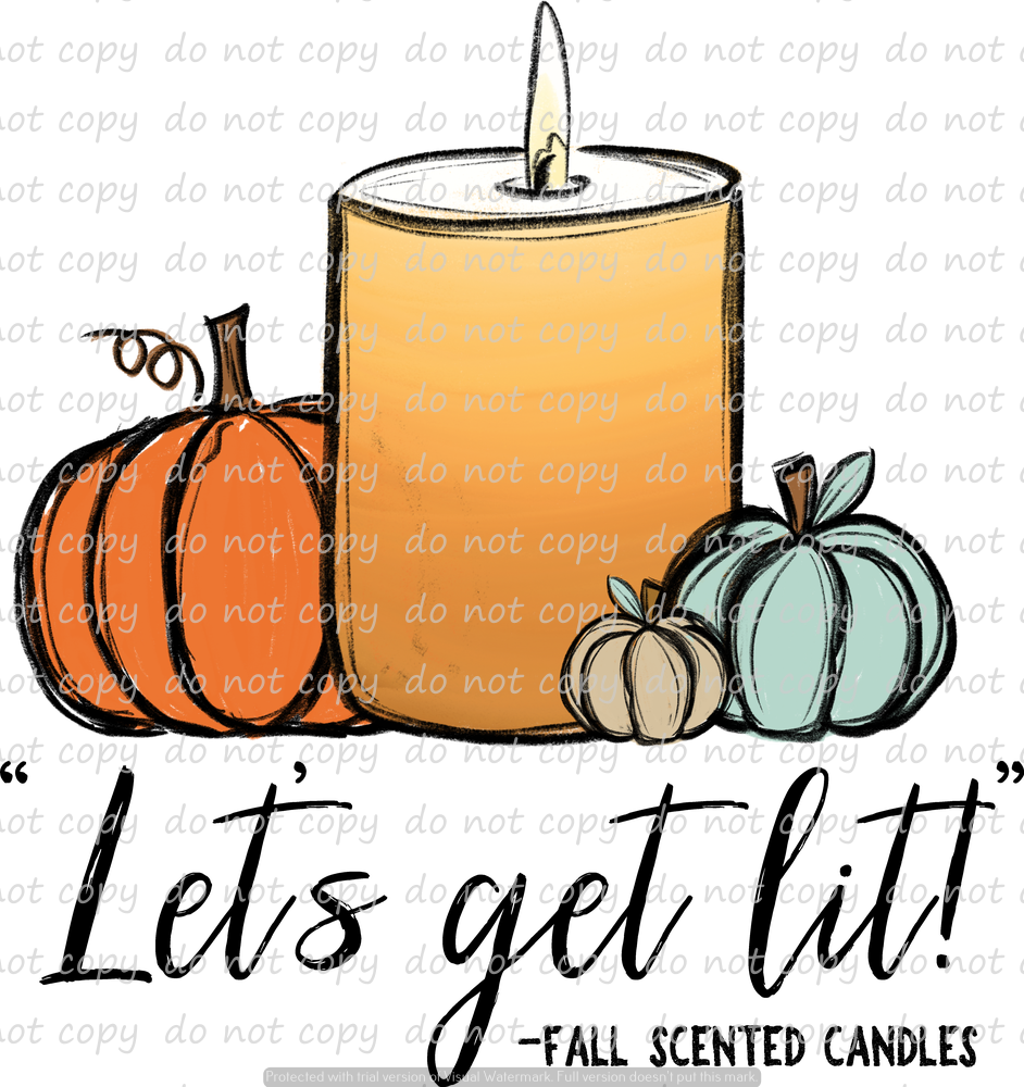 FALL CANDLES (SUBLIMATION TRANSFER)