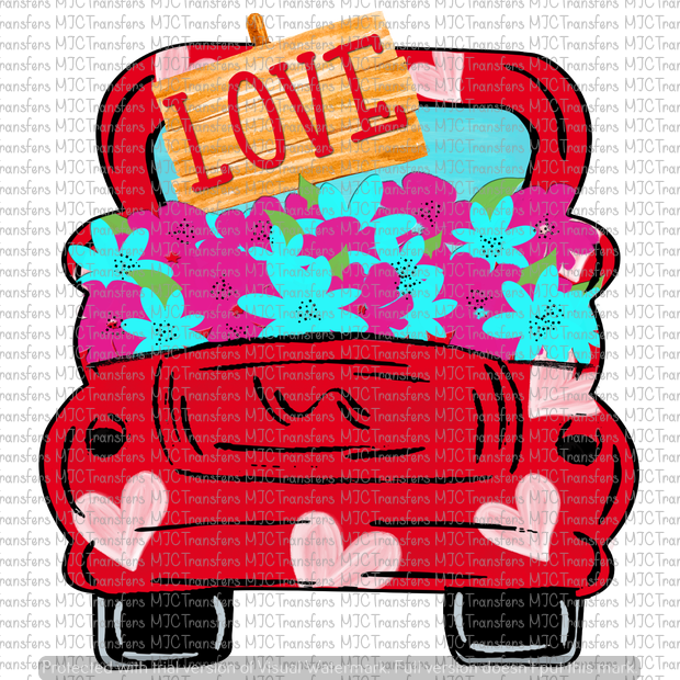 LOVE FLOWER TRUCK (SUBLIMATION)
