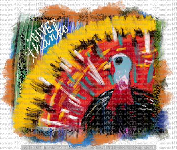 GIVE THANKS TURKEY (SUBLIMATION)