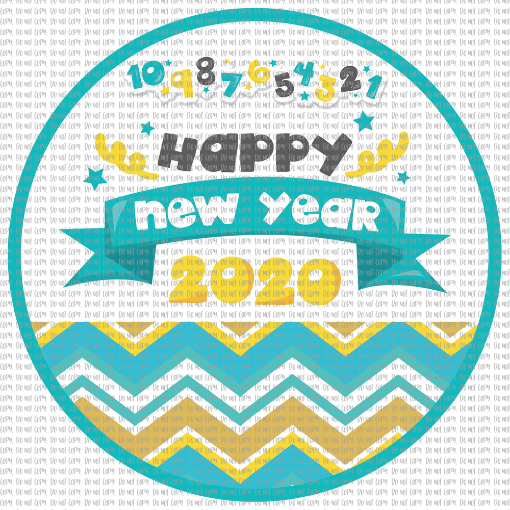 BLUE HAPPY NEW YEAR 2020 (SUBLIMATION)