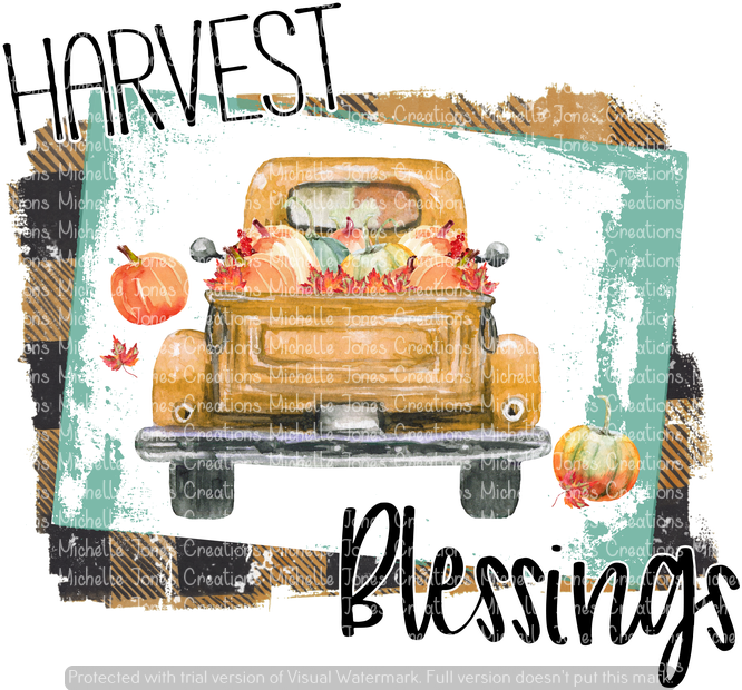 HARVEST BLESSINGS (SUBLIMATION)