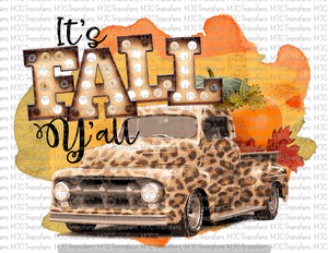 ITS FALL Y'ALL LEOPARD TRUCK (SUBLIMATION)