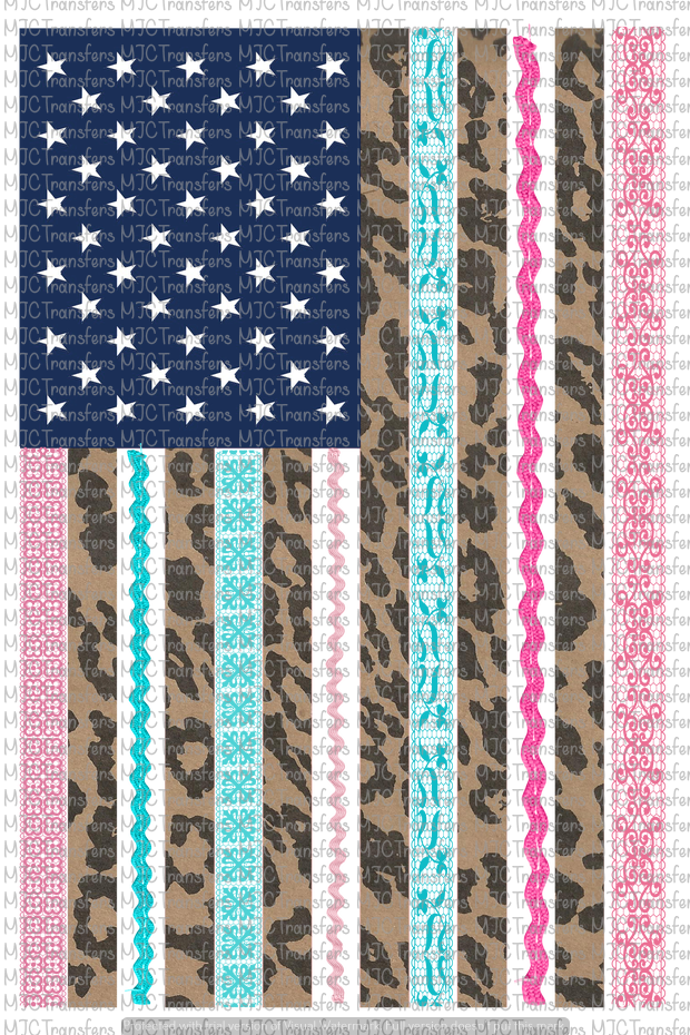 LACE AND LEOPARD FLAG (SUBLIMATION)