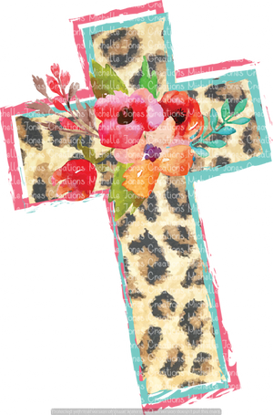 LEOPARD CROSS (SUBLIMATION)