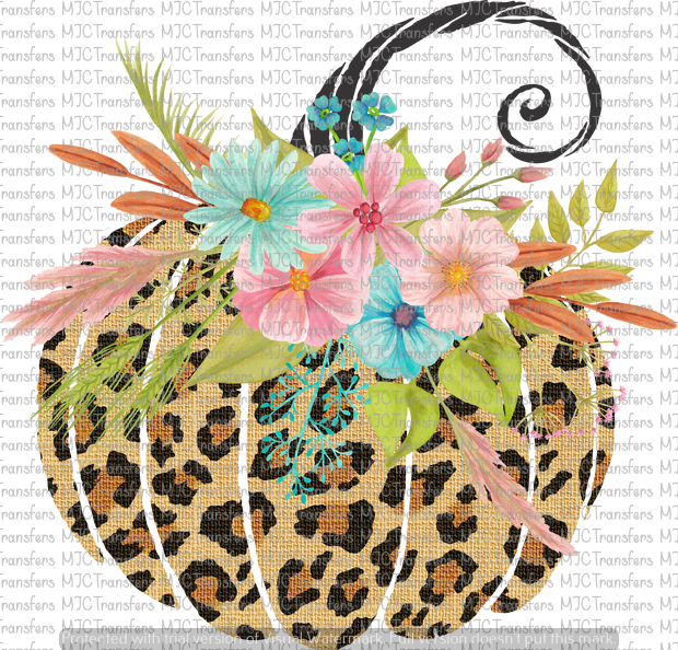 LEOPARD FLORAL PUMPKIN (SUBLIMATION)