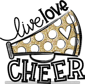 LIVE LOVE CHEER (BLACK/GOLD) (SUBLIMATION)