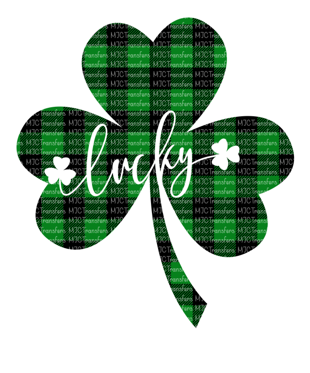 LUCKY SHAMROCK (BUFFALO PLAID) (SUBLIMATION)