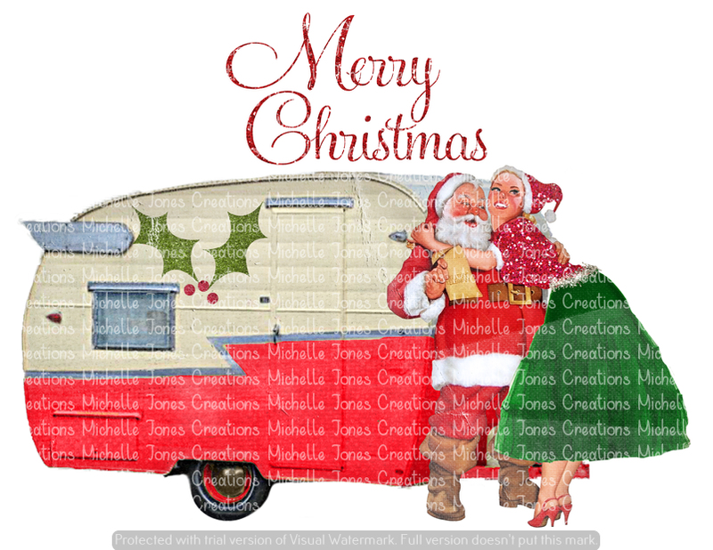MERRY CHRISTMAS CAMPER (SUBLIMATION)