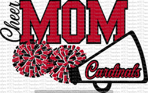 CHEER MOM CARDINALS (SUBLIMATION)