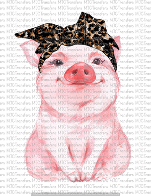 PIG WITH LEOPARD HEADBAND (SUBLIMATION)
