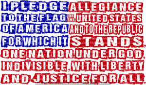 PLEDGE OF ALLEGIANCE (DISTRESSED) (SUBLIMATION)