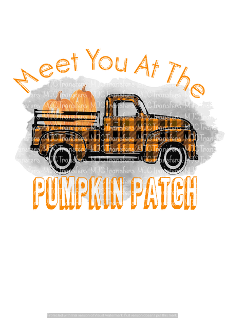 MEET ME AT THE PUMPKIN PATCH (BLACK/ORANGE TRUCK) (SUBLIMATION)