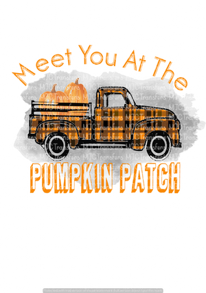MEET YOU AT THE PUMPKIN PATCH (BLACK/ORANGE TRUCK) (SUBLIMATION)