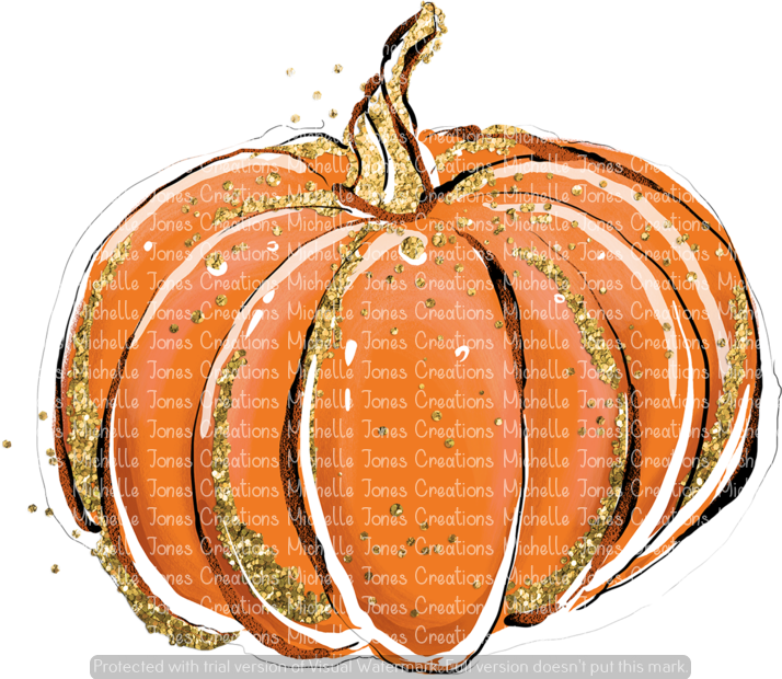 GLITTER/ORANGE PUMPKIN (SUBLIMATION)