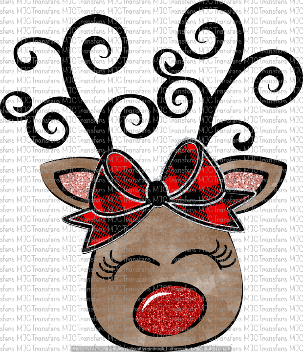 GIRL REINDEER WITH BOW (SUBLIMATION)