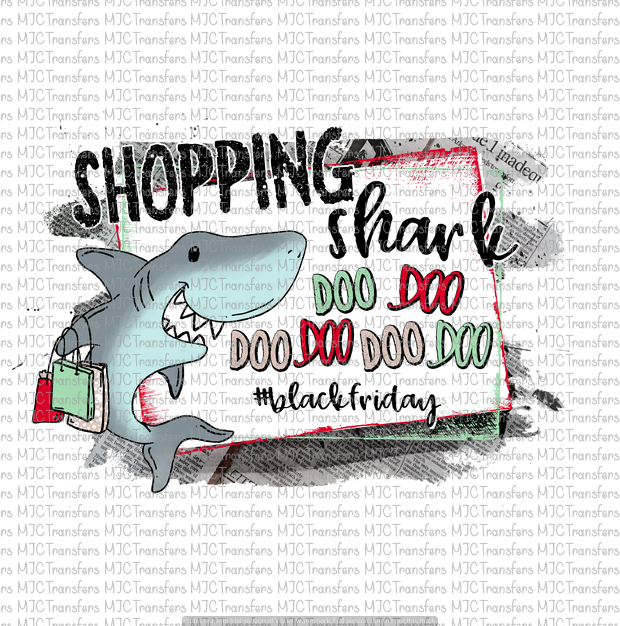 SHOPPING SHARK #BLACKFRIDAY (SUBLIMATION)