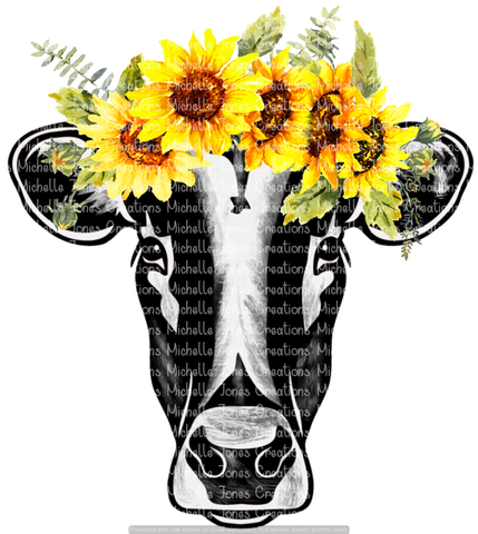 SUNFLOWER COW (SUBLIMATION)