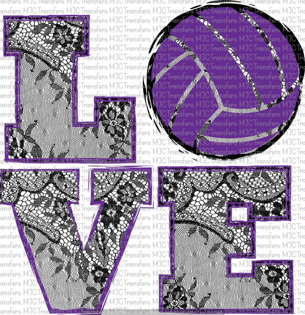 LOVE VOLLEYBALL (SUBLIMATION)