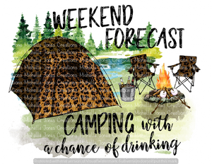 WEEKEND FORECAST CAMPING WITH A CHANCE OF DRINKING (SUBLIMATION)