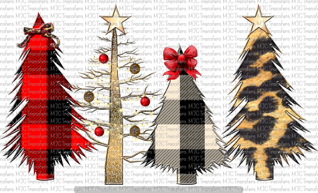 WILD CHRISTMAS TREE SCENE (SUBLIMATION)