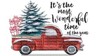 IT'S THE MOST WONDERFUL TIME OF THE YEAR TRUCK (SUBLIMATION)
