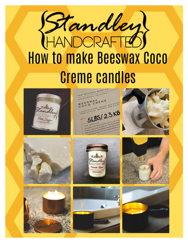 How to make beeswax coco creme candles e-book