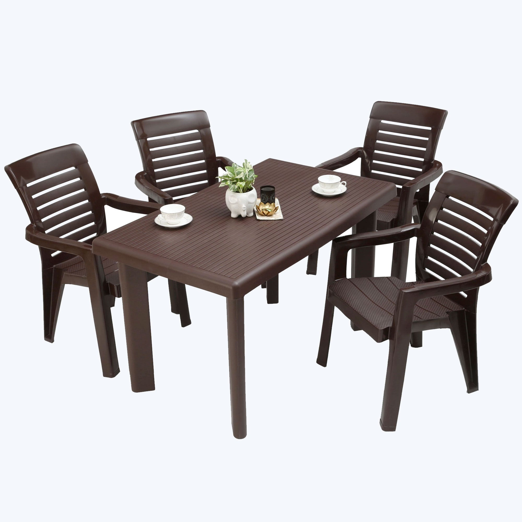 Chair and table set plastic