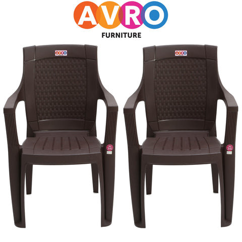 7756 Matt and Gloss Chair (Set Of 2 Chairs)