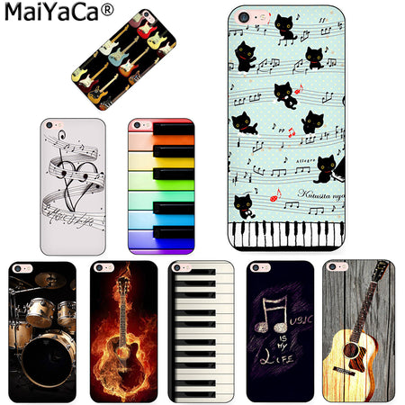 MaiYaCa piano guitar music Newest Super Cute Phone Cases for Apple iPhone 8 7 6 6S Plus X 5 5S SE 5C  Cellphones
